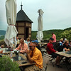 Braubach Germany, Marksburg Castle, Outdoor Cafe