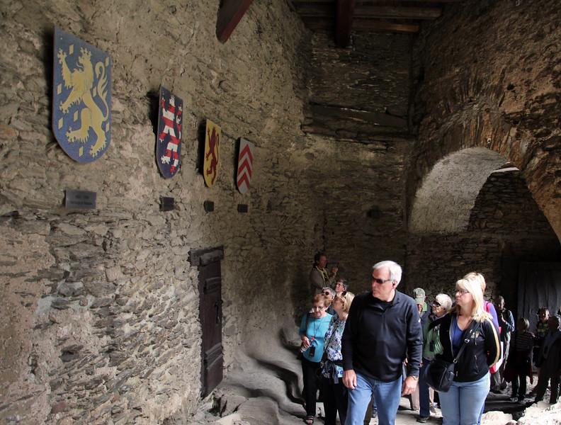 Braubach Germany, Marksburg Castle, View on Entrance