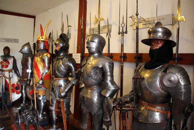 Braubach Germany, Marksburg Castle, Display of Historic Armor