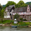 Braubach Germany, Sailing past Rhens on the Rhine