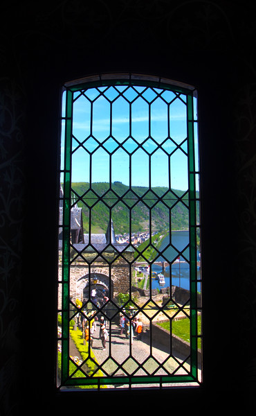 Viking River Cruise, Cochem Germany, View from Castle Window on to the Moselle river