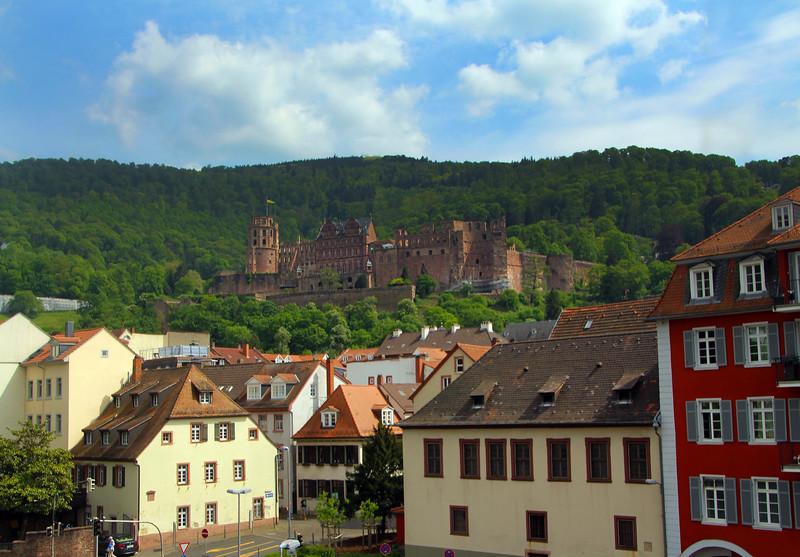 Heidelberg Germany, View on Castle from Bridge