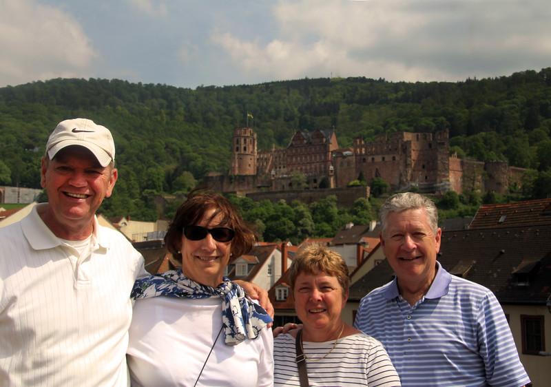 Viking River Cruise, Passengers Enjoying Heidelberg