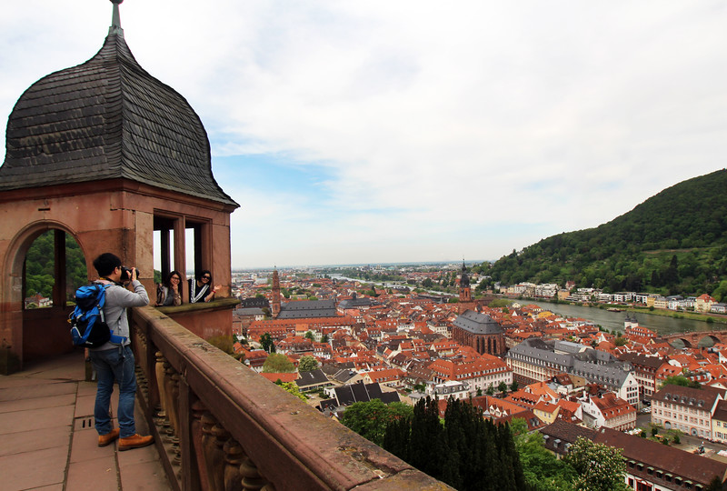 Heidelberg Germany, View on City