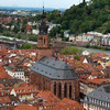 Heidelberg Germany, View on City Center from Castle