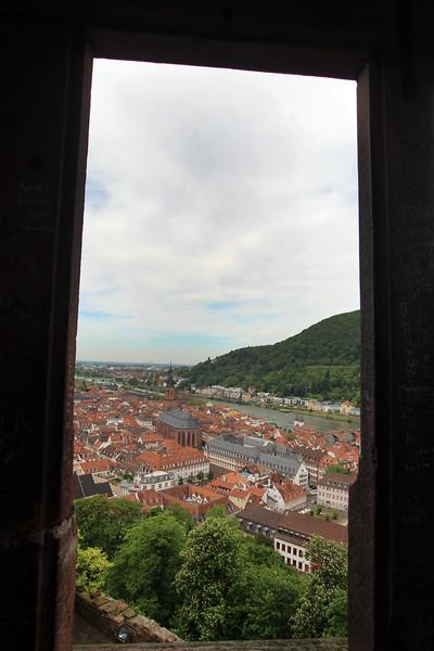Heidelberg Germany, Window View on City