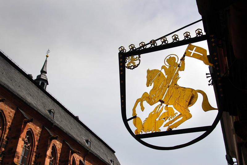Heidelberg Germany,  Golden Schield