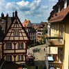 Nuremberg Germany, View of Old Town from Castle