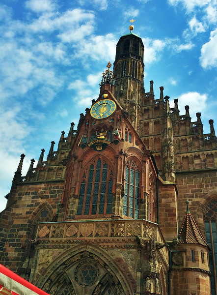Nüremberg Germany, Cathedral Clock