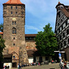 Nuremberg Germany, Clock Tower in Old Town