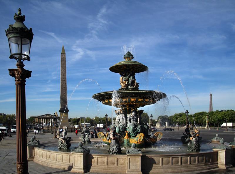 Paris France, Place de la Concorde  Fountain of River Commerce & Navigation