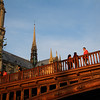 Paris France, View on spire of Notre Dame Cathedral