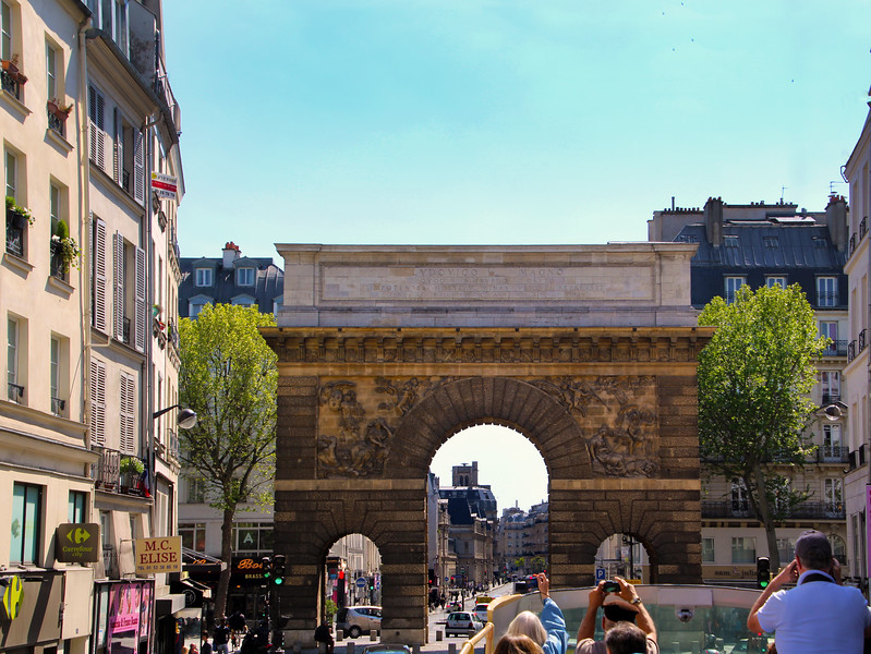 Paris France, Porte Saint Martin