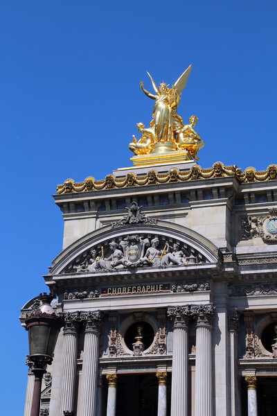 Paris France,  Palais Garnier , Golden Statue
