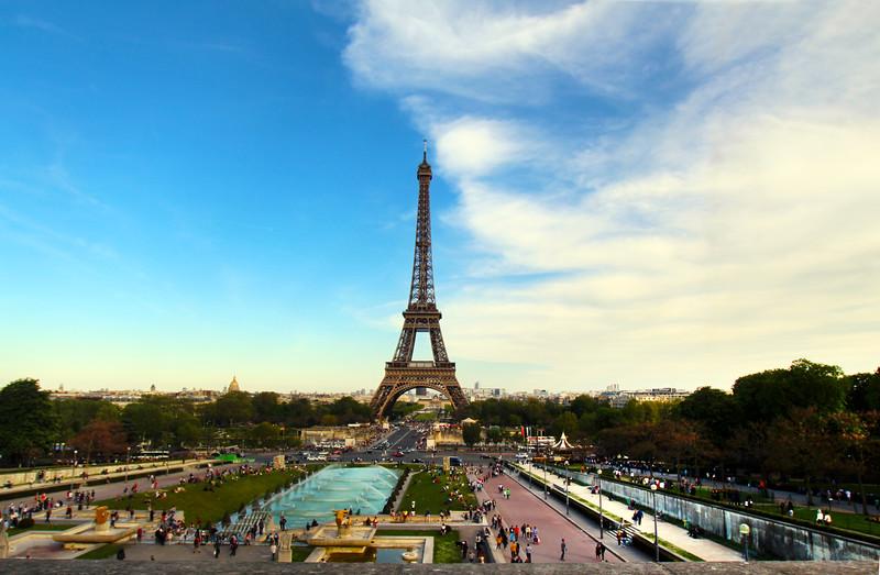 Paris France,  Eiffel Tower from the Trocadéro