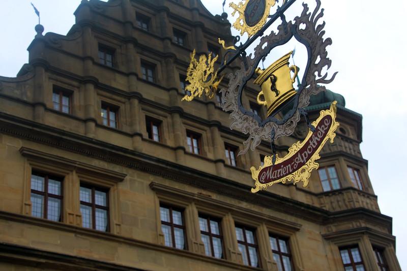 Rothenburg ob der Tauber, Pharmacy Sign