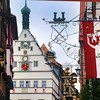 Rothenburg ob der Tauber. View on Town Clock