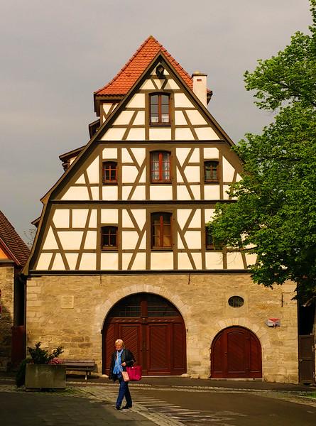 Rothenburg ob der Tauber, Half-Timbered House
