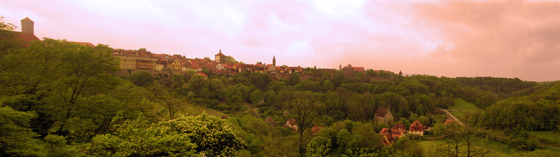 Rothenburg ob der Tauber, Panorama on Town and Valley