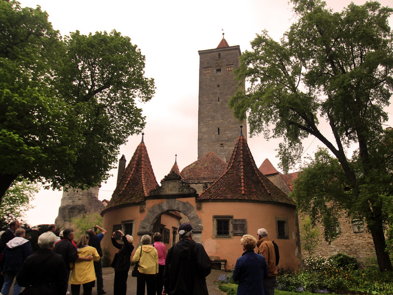 Rothenburg ob der Tauber, View on 15th Century Bergtorturm