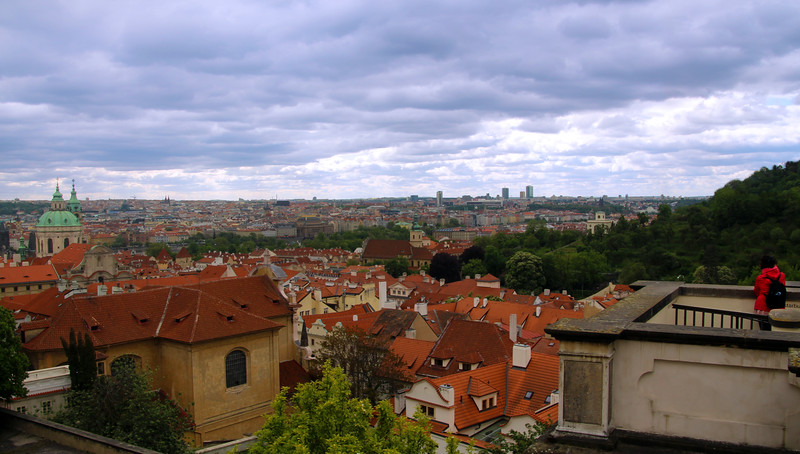 Prague, Czech Republic, View on Old Town from Prague Castle