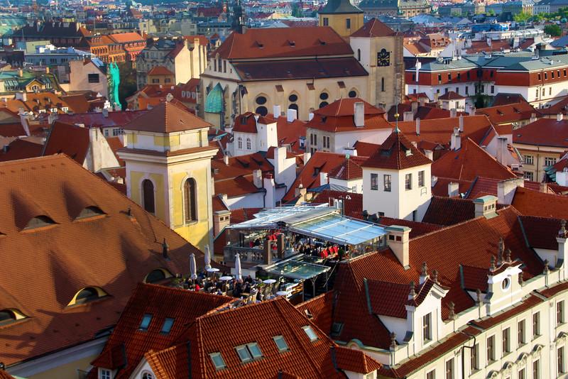 Prague, Czech Republic, Rooftop Dining