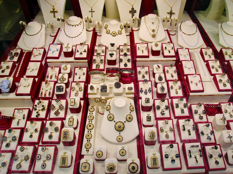 Prague, Czech Republic, Garnet Jewelry