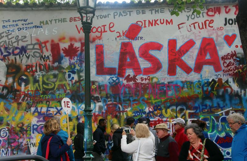 Prague, Czech Republic, John Lennon Wall, Viking Tour Group