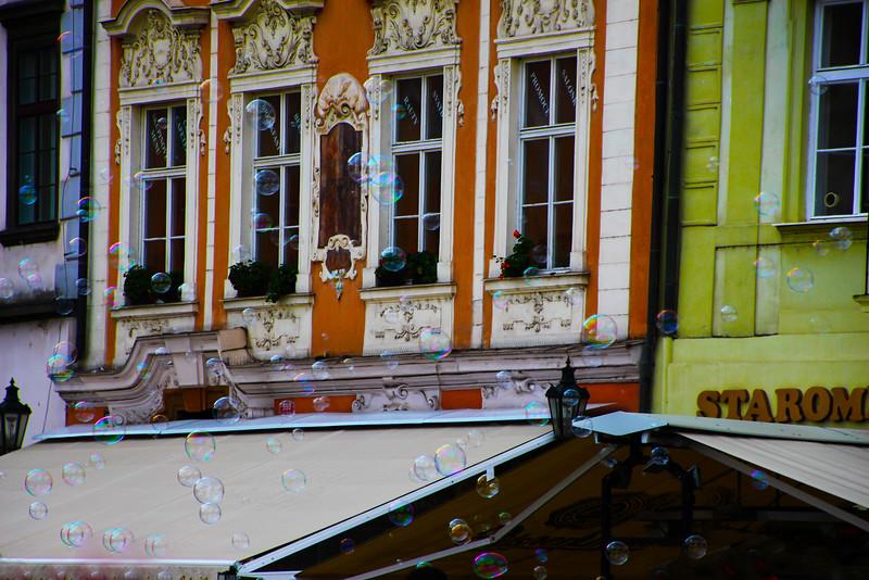 Prague, Czech Republic, Street Bubbles