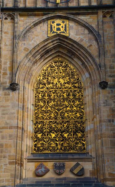 Prague, Czech Republic, St. Vitus Cathedral, Golden Grill
