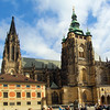 Prague, Czech Republic, St. Vitus Cathedral, Long View Over Square