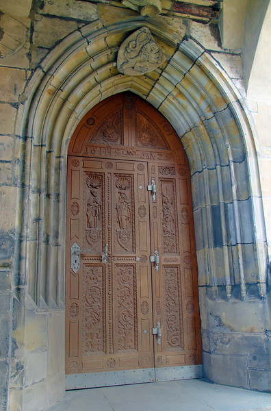 Prague, Czech Republic, Cathedral Portal