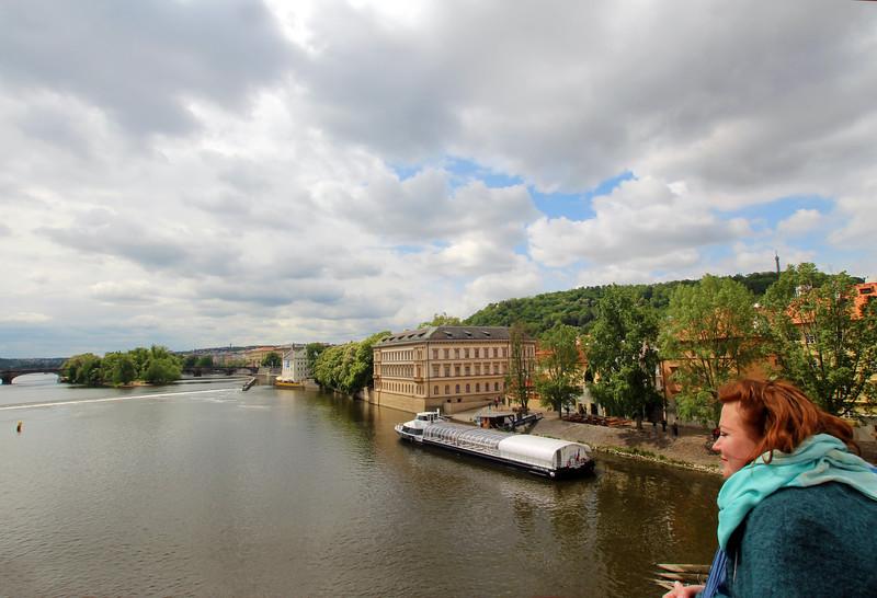 Prague, Czech Republic, Viewing Vltava River