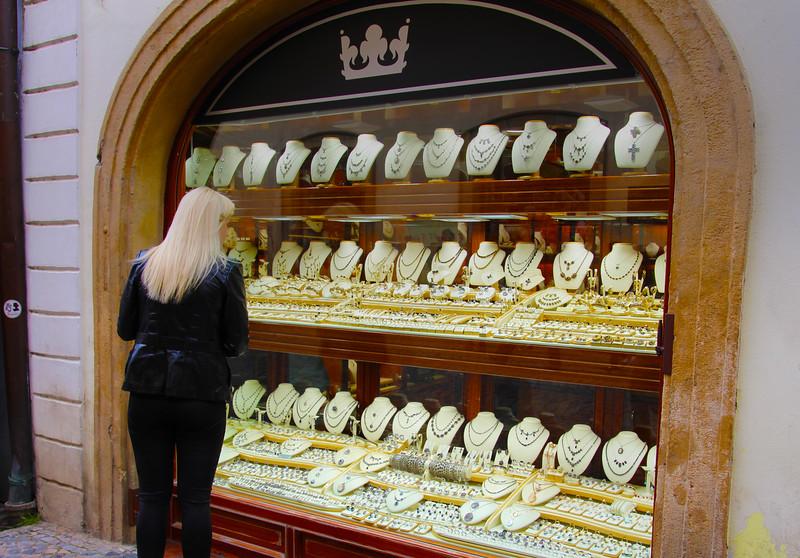 Prague, Czech Republic, Window Shopping