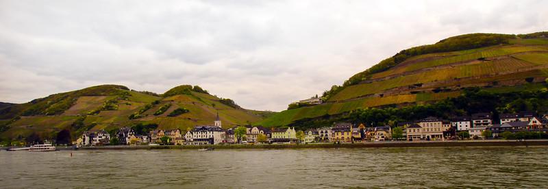 Viking River Cruise, Assmanshausen, Panorama