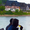 Viking River Cruise, View on Middle Rhine while Dining