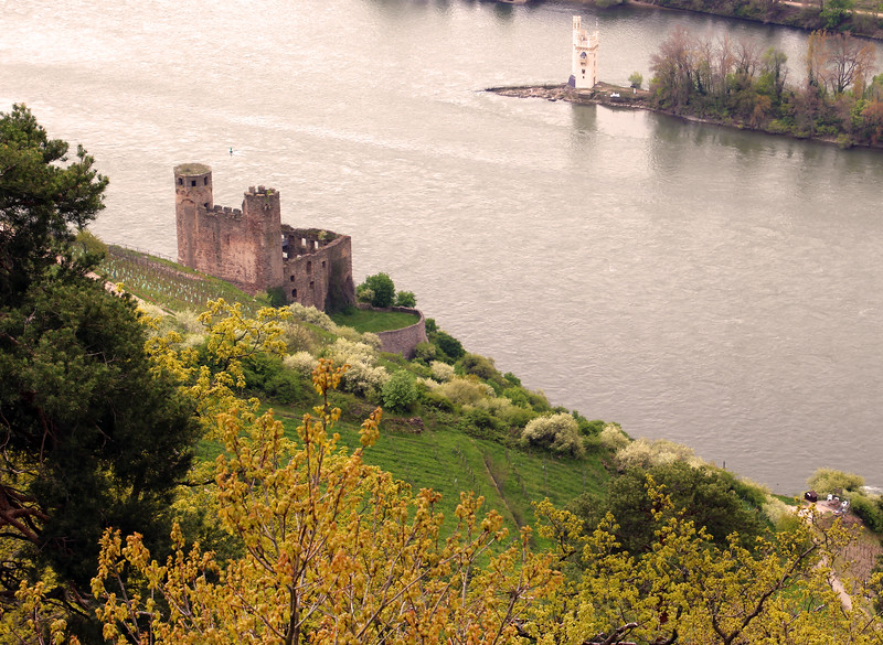 Viking River Cruise, Middle Rhine,  Ehrenfels Castle, Mouse Toweri