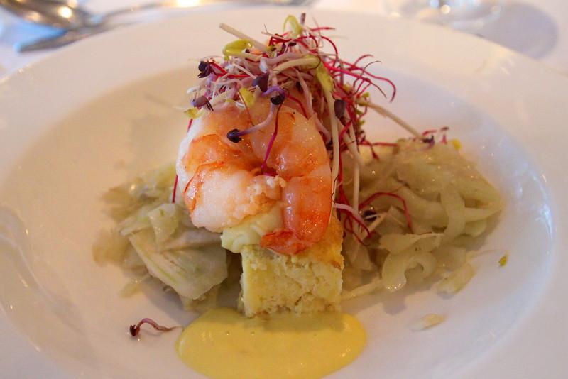 Viking River Cruise, Shrimp Polenta Appetizer