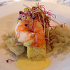 Viking River Cruise, Shrimp Polenta Appetizer