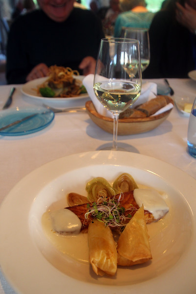 Viking River Cruise, Chef's Dinner, Honey Barbecued Filet of Salmon