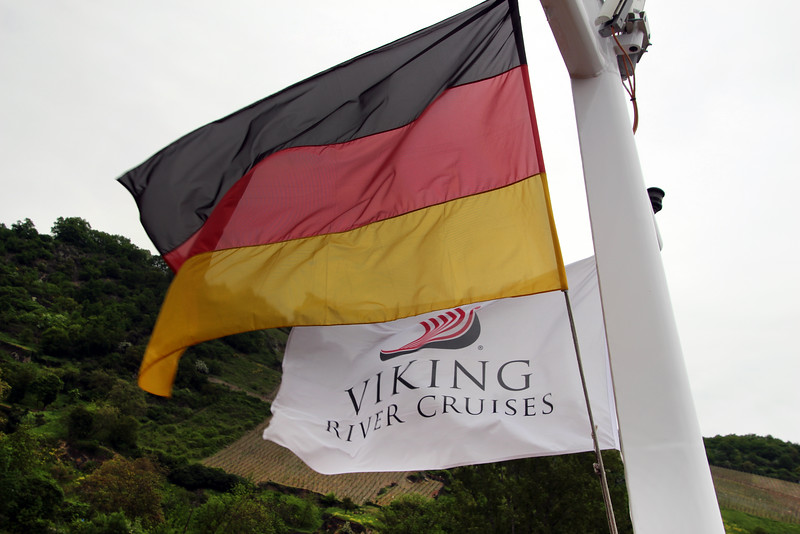 Viking River Cruise, Flags Over Vineyards