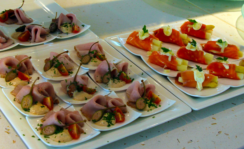 Viking River Cruise, Chef's Dinner Appetizers