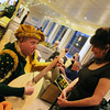 Viking River Cruise, Folk Performer Serenading Passenger