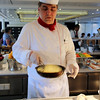 Viking River Cruise, Chef Prepares Specialty Omelettes