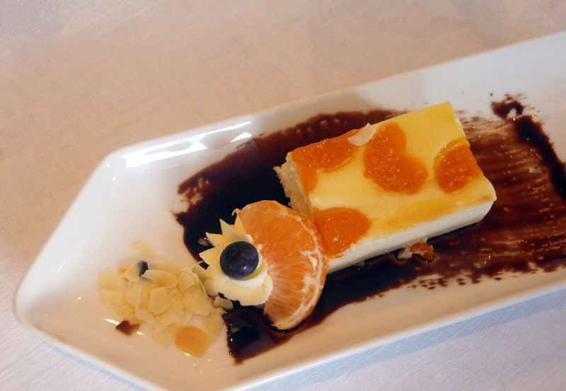 Viking River Cruise, Chef's Dinner, Mandarin Cake