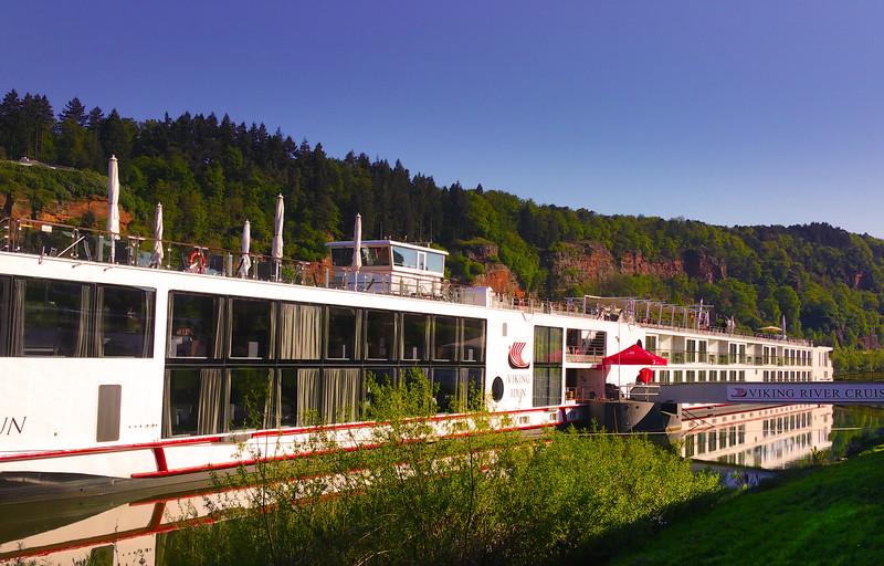 Viking River Cruise, Viking Idun docked in Trier, Germany