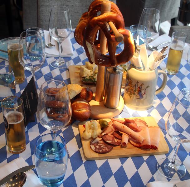 Viking River Cruise, German Night Table