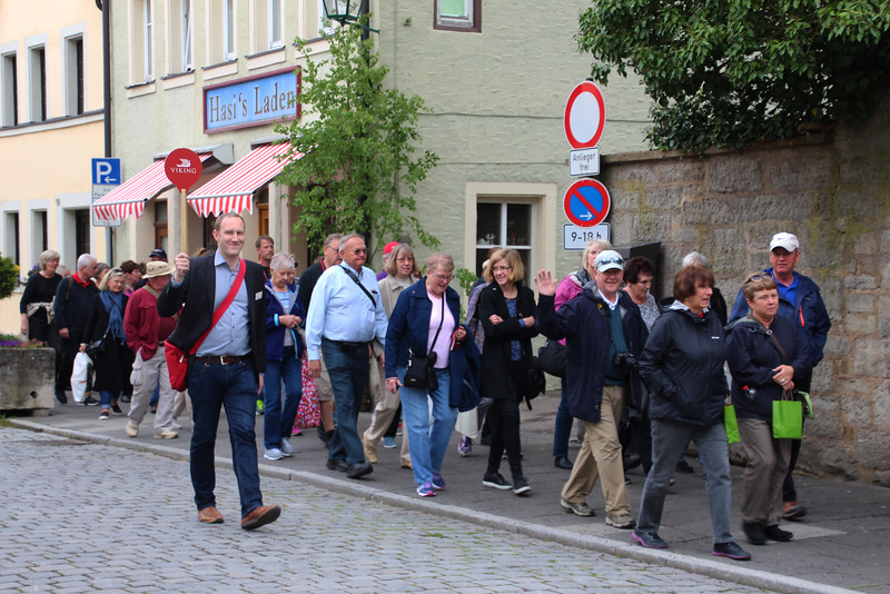 Viking River Cruise, Leading Group through Rothenburg ob der Tauber