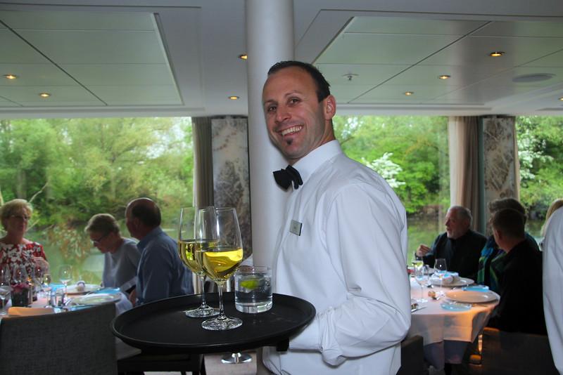 Viking River Cruise, Smiling Wine Server