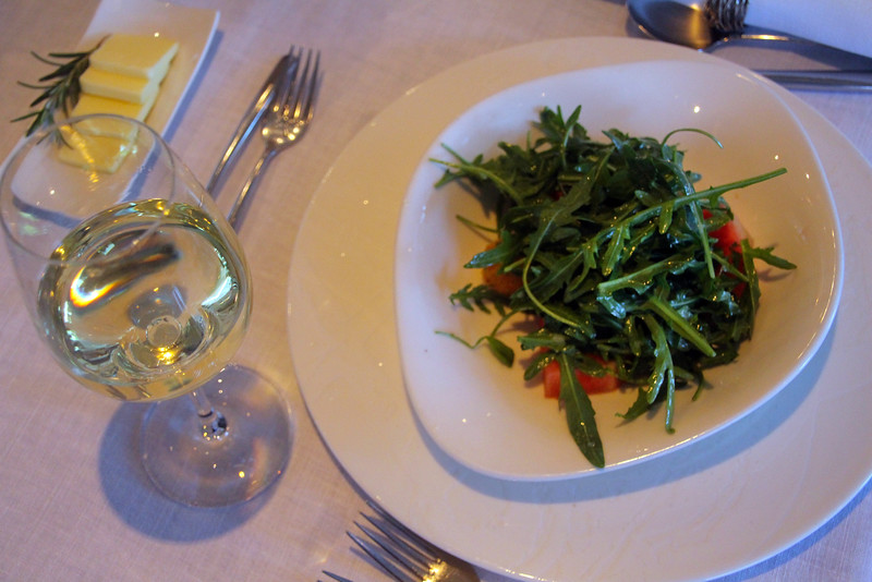 Viking River Cruise,  Fresh Arugula Salad